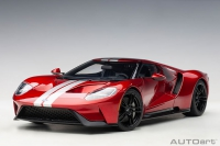 Ford GT 2017, liquid red / silver stripes