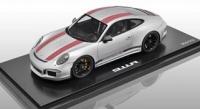 Porsche 911 R, silber mit roten Streifen