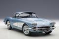 Corvette 1958, silver blue