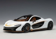 McLaren P1 alaskan diamond white/black
